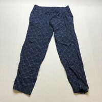 Old Navy Blue Boho Print Pull On Elastic Waist Pants Size XS A2028
