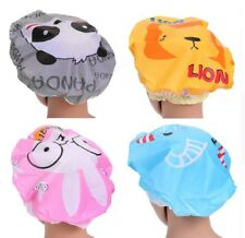Novelty Animal Shower Cap - One Size - Elasticated - Waterproof - Ideal for Kids