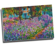 "Claude Monet Jardin De Giverny Canvas Print Wall Art 30x20"" A1"