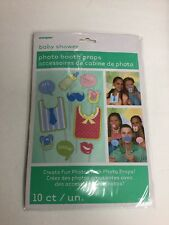 BABY Photo Booth Props Set of 10 Baby Shower Party  - Create Fun Photos!