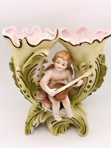 ardalt japan cherub figurine double vase Hand painted #6277A