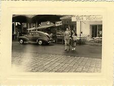 PHOTO ANCIENNE - VINTAGE SNAPSHOT - VOITURE AUTOMOBILE PEUGEOT RUE - CAR STREET
