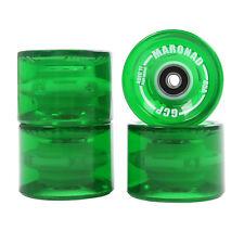 4 Stück LED MARONAD® Longboard Skateboard Rollen Wheels 70x50mm 85A ABEC 11 Grün