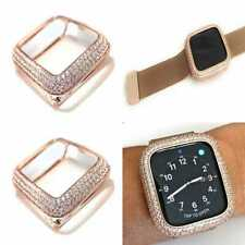 Bling apple watch Series 4/5 bezel case cover Zirconia Diamond Rose Gold 44mm
