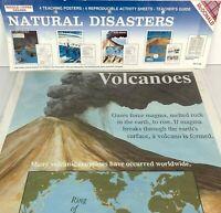 Natural Disasters Teaching Posters (set of 4) 1991 McDonald Homeschool Teacher