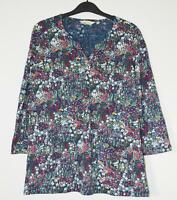 NEW EX SEASALT UK 10 12 14 DAINTY GYSOPHILIA FLORAL COTTON  JERSEY TUNIC TOP