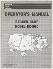 Honda Bagger Cart Model Bc4050 Operators Manual H/C 4051983 (138)