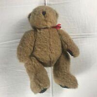 "Albert Price Plush Bear VTG Fully Jointed Teddy 12"" Stuffed Plaid Paws Ribbon"
