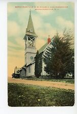 Bernardsville M.E. Church & Parsonage BERNARDSVILLE NJ Rare Antique PC Merke