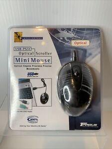 NEW Targus Optical Scroller Mini Mouse Model PAUM003v2 Black PS/2 - USB FREE FRT