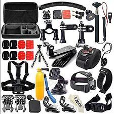 50-en-1 Kit lote Accesorios para cámaras Go-Pro, sj5000 sj4000 sj6000 Xiaomi