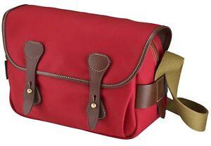 Billingham S3 Shoulder Camera Bag - Burgundy Canvas with Chocolate Leather trim