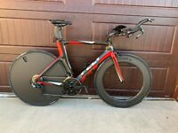 2017 Custom FELT B14 54 cm Carbon Triathlon Bike Tri TT dura ace time trial