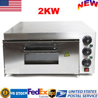 110V Home Commercial Single Layer 2000W Electric Pizza Oven Stainless Steel USA