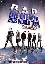 "B.A.P. ""LIVE ON EARTH 2016 WORLD TOUR SEOUL AWAKE"" CONCERT POSTER-K-Pop, Hip Hop"