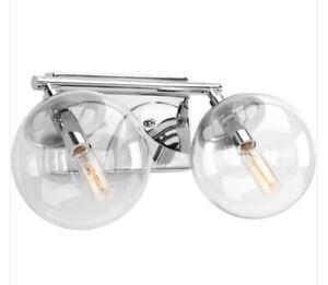 Progress Lighting P2854-15 Mod 2-Light Polished Chrome Bathroom Vanity Light
