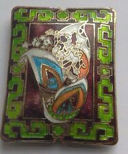 RETTANGOLARE dell'era Maji Focale Perlina, Art Deco Stile, Borgogna. gioielli