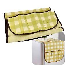 Home Fridge Refrigerator Lattice Dust Proof Cover Muti-use Pouch Bag Organizer