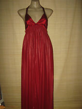 "NEW- Designer Malene Birger X back dark red evening Gown Size 36"" bust rrp $625"
