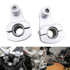 22mm/28mm Motorcycle Handlebar Handle Fat Bar Mount Clamps Riser CNC Aluminum