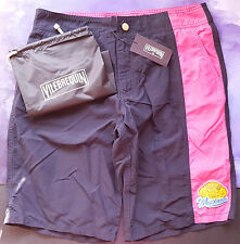Vilebrequin Mens Swimming Shorts Melta Not Elasticated Size L 28/30 Navy Mexico