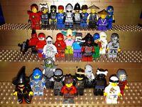 30 Lego City Figuren mit Kopfbedeckung. Minifig, Town, Polizei, Arbeiter, C6