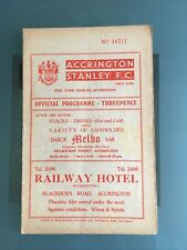 More details for accrington stanley v doncaster rovers 11th march 1959
