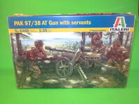 Italeri 1/35th Scale WW2 German Pak 97/38 Anti Tank Gun Model Kit 6460 New!