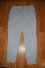 New Womens 90 Degree by Reflex Heather Gray Exercise Lounge Pockets Pants L