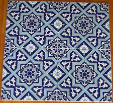 """CLEARANCE Raised 20 8""""x8"""" Turkish Seljuk Geometric Floral Pattern Ceramic Tiles"""