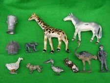 LEAD / METAL FARM & ZOO ANIMALS & ITEMS ASSORTMENT