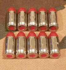 380 SNAP CAPS  SET OF 10 (RED+NICKEL)