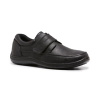 Mens Woodlands Sigmund Black Adjustable Straps Comfortable Work Casual Shoes