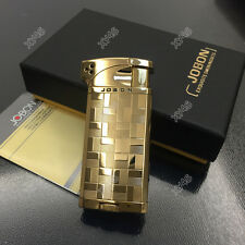 JOBON Checkered Patterns Dual Style Flame Butane Cigar Cigarette Lighter