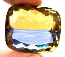 59.30 Cts. Natural Ametrine Blue & Yellow Cushion Cut Certified Gemstone