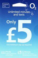 Job Lot 5X 02 Pay As You Go STANDARD MICRO & NANO O2 Sim Card - £5 Big Bundle