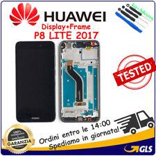 SCHERMO LCD DISPLAY Per Huawei P8 Lite 2017 FRAME PRA-LX1 PRA-LA1 PRA-LX3 NERO