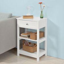 SoBuy® Beistelltisch,Nachttisch,Couchtisch mit Schublade und Ablagen,FBT46-W
