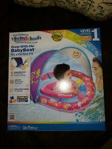 SWIM SCHOOL...Girls BABY BOAT,  Grow with Me.. 6 TO 24 Months