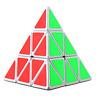 Rubics Cube Puzzle Triangle Pyramid Speed Game Twist Toy Kids Rubix Brain NEW