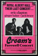 Farewell Cream Eric Clapton Ginger Baker Rare Concert Film Poster 1977 1-Sheet