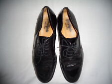 VITO RUFOLO Black Leather Dress Oxford Split Toe Shoes Size 11 Made In Italy.