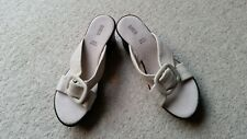 Ladies Marks and Spencer's leather slip on sandal size 4.5 cream