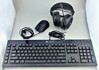 Corsair Essential Wired Gaming Bundle Harpoon Mouse K55 Keyboard HS50 Headset