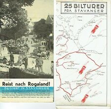Travels to Rogaland Norway trips by car in Stavanger brochures UM 1936