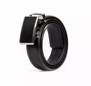 Men's Ratchet Black Belt Genuine Leather One Size Fits All Swiss Gear 29.99 MSRP