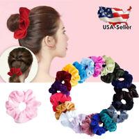 5-40 Pcs Women Girls Hair Ties Scrunchies Velvet Elastic Hair Band Scrunchy Rope