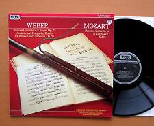 Weber Mozart Bassoon Concertos George Zukerman VOX TV 334049 NM/EX Stereo