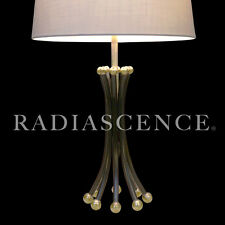 ATOMIC MODERN SPACE AGE GOOGIE SPUTNIK BRASS TABLE LAMP FREDERICK WEINBERG 50's
