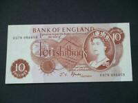 A 1967 B310 FFORDE TEN SHILLING NOTE LAST SERIES PREFIX D37N UNCIRCULATED.